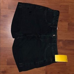 H&M Black Regular Waist Shorts